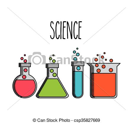 450x416 Science Lab Design . Science Lab Design, Vector Illustration Eps10