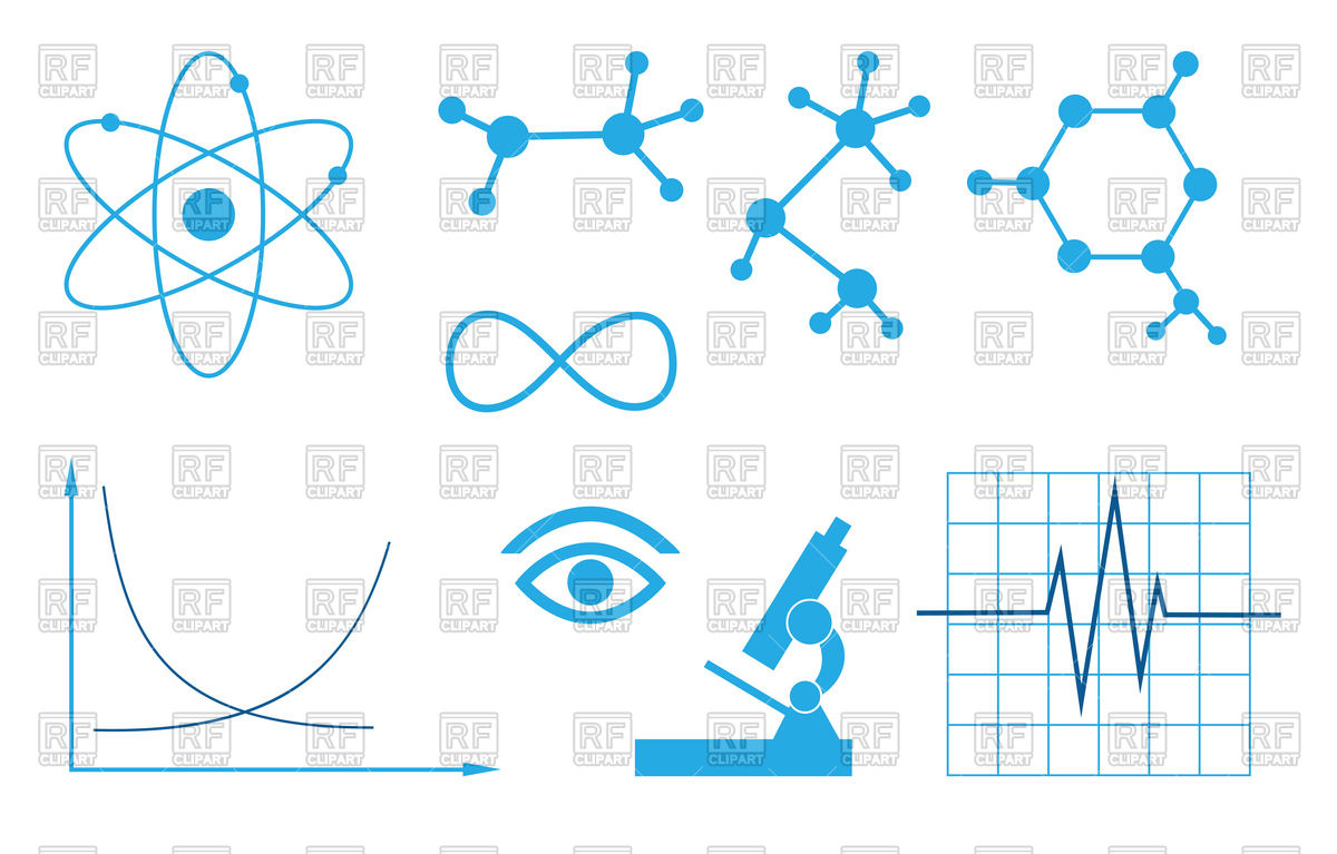 1200x767 Signs Of Science Set Vector Image Vector Artwork Of Healthcare
