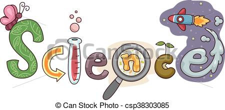 450x220 Typography Illustration Featuring The Word Science.