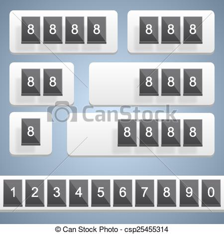 450x470 Numeric Scoreboard. Vector. Numeric Scoreboard Art Frame Counter