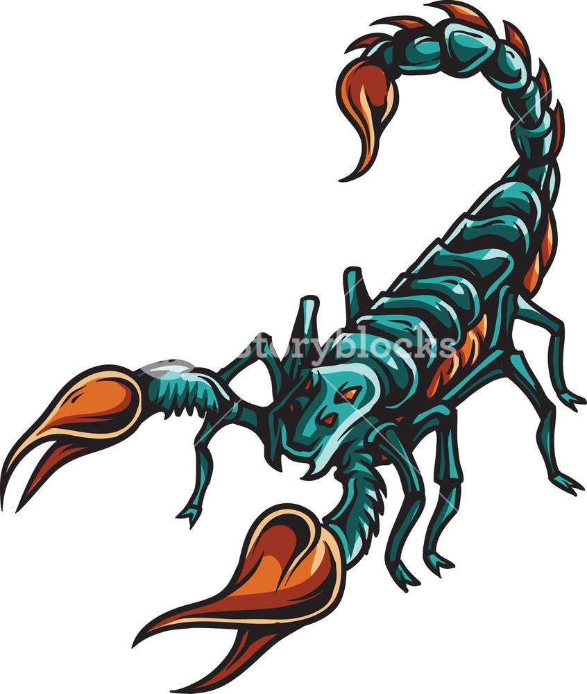 846x1000 Scorpion Vector Element Royalty Free Stock Image