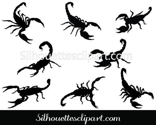 500x400 Scorpion Vector Graphics Download Scorpion Silhouette
