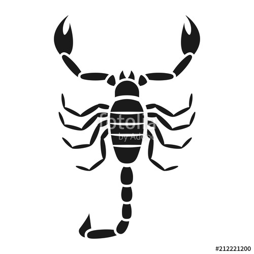 500x500 Scorpion Vector Icon Stock Image And Royalty Free Vector Files On