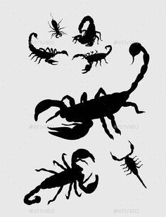 236x309 Scorpion Vector Silhouette Illustrations Scorpion