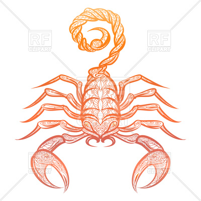 400x400 Colorful Ornate Scorpion Vector Image Vector Artwork Of Plants