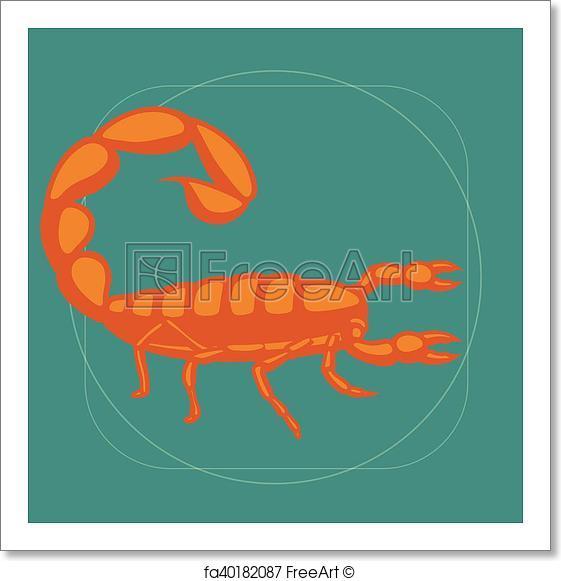 561x581 Free Art Print Of Scorpion Vector. Poisonous Scorpion Vector