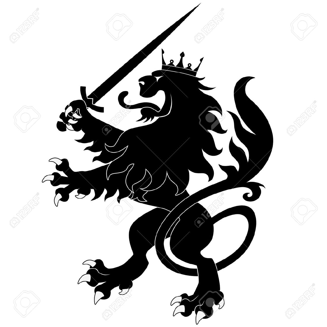 Scottish Lion Vector