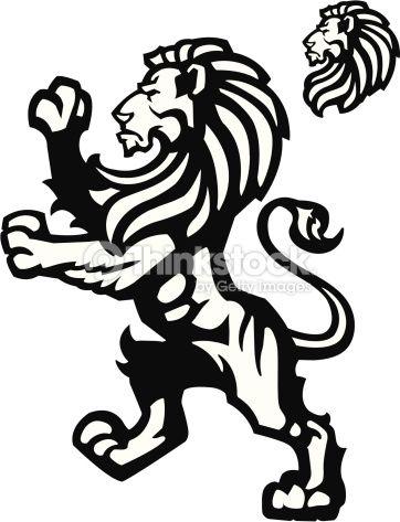 362x473 Vector Art Lion Rampant Mascot Leon Of Lion