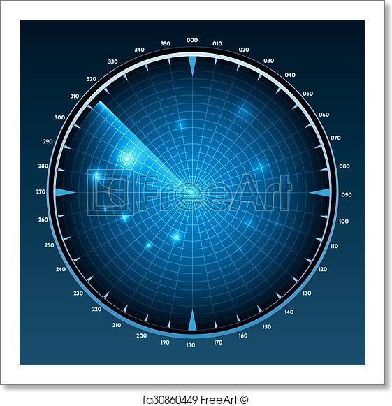 561x581 Free Art Print Of Radar Screen Vector. Radar Screen Vector