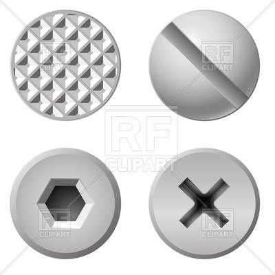 400x400 Nails And Screws Head Vector Image Vector Artwork Of Objects