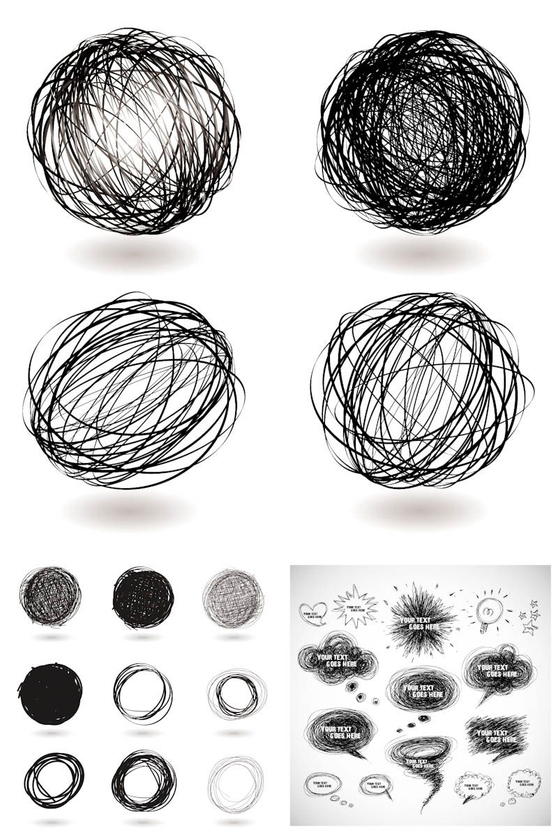 800x1200 Hand Drawn Elements Vector Sketch Inspire Hand