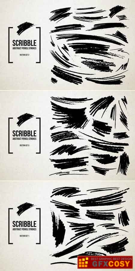450x903 Real Pencil Scribbles Vector Set Bundle Free Download Photoshop