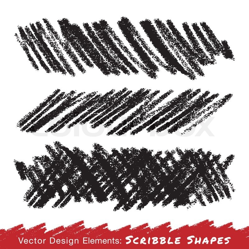 800x800 Scribble Smears Hand Drawn In Pencil, Vector Design Elements