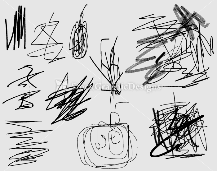 700x550 Scribble Vector And Photoshop Brushes Pack 3 Vector Amp Photoshop