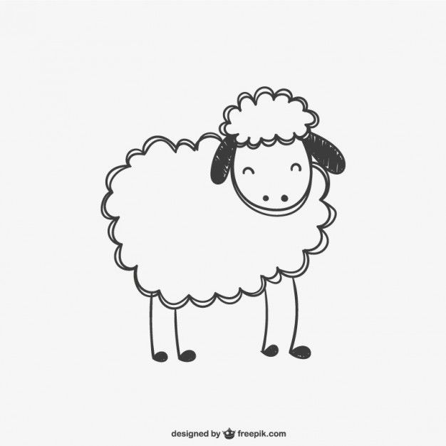 626x626 Sheep Scribble Vector Sheepy Knit Crochet, Clip