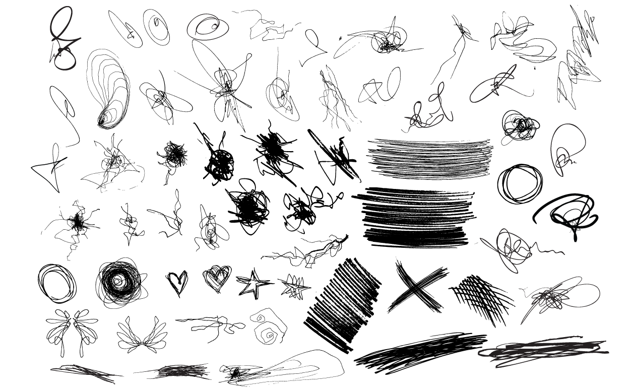 1270x778 Adobe Illustrator Scribbles Vector Pack