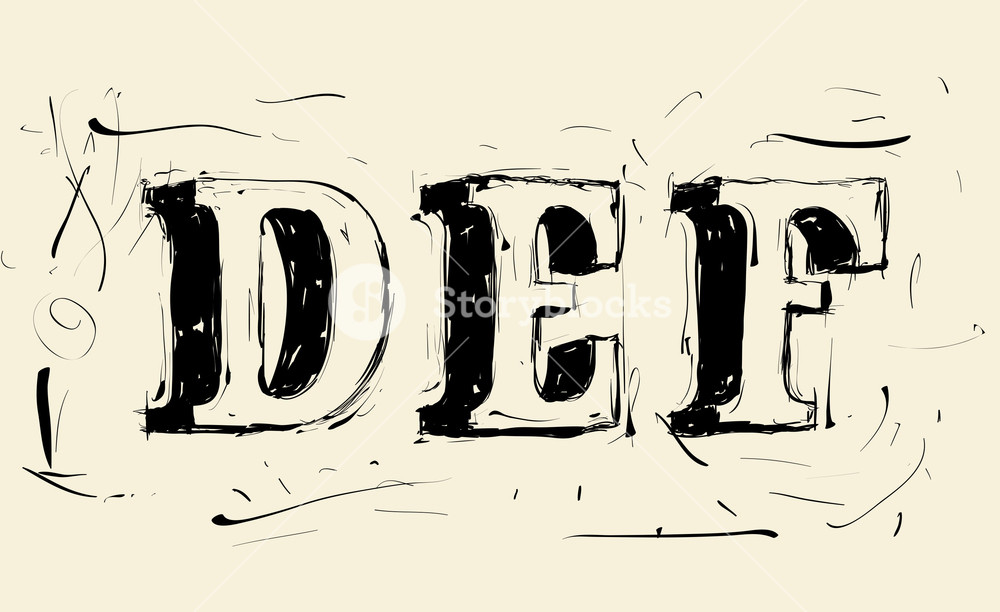 1000x612 Hand Drawn Grunge Scribble Vector Typeface Royalty Free Stock