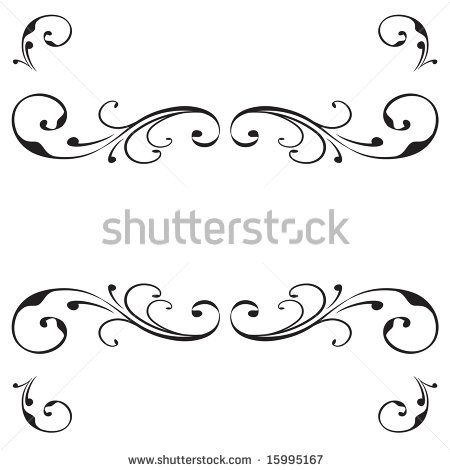 450x470 Scroll Banner Vector Scroll Banner Design With Flourish Ornament