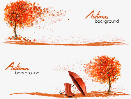 450x341 Fall Creative Banner Design Vector Material, Banner Vector, Scroll