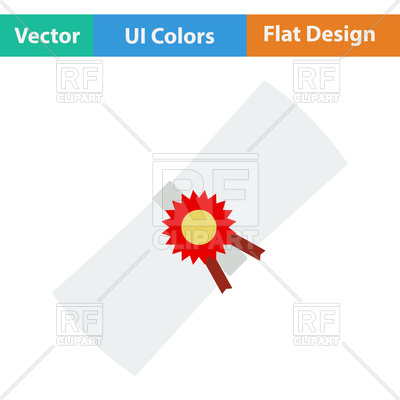 400x400 Flat Design Icon Of Scroll In Ui Colors Vector Image Vector