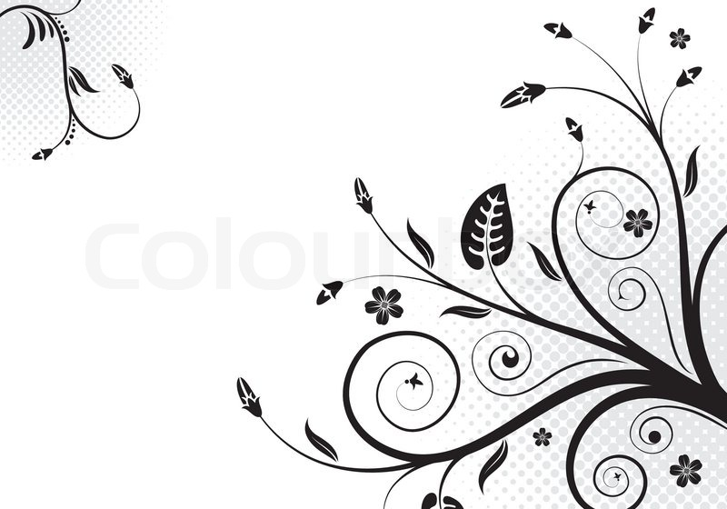 800x560 Floral Scroll, Element For Design, Vector Illustration Stock