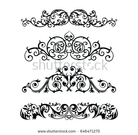 450x438 Ornate Design Ornate Scroll And Decorative Design Elements Vintage