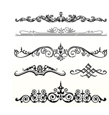380x400 16 Vector Vintage Header Images Vintage Ribbon Banner, Scroll