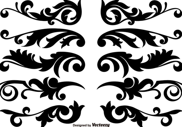 632x443 Scroll Works Design, Ornamental Decorative Vector Elements Free