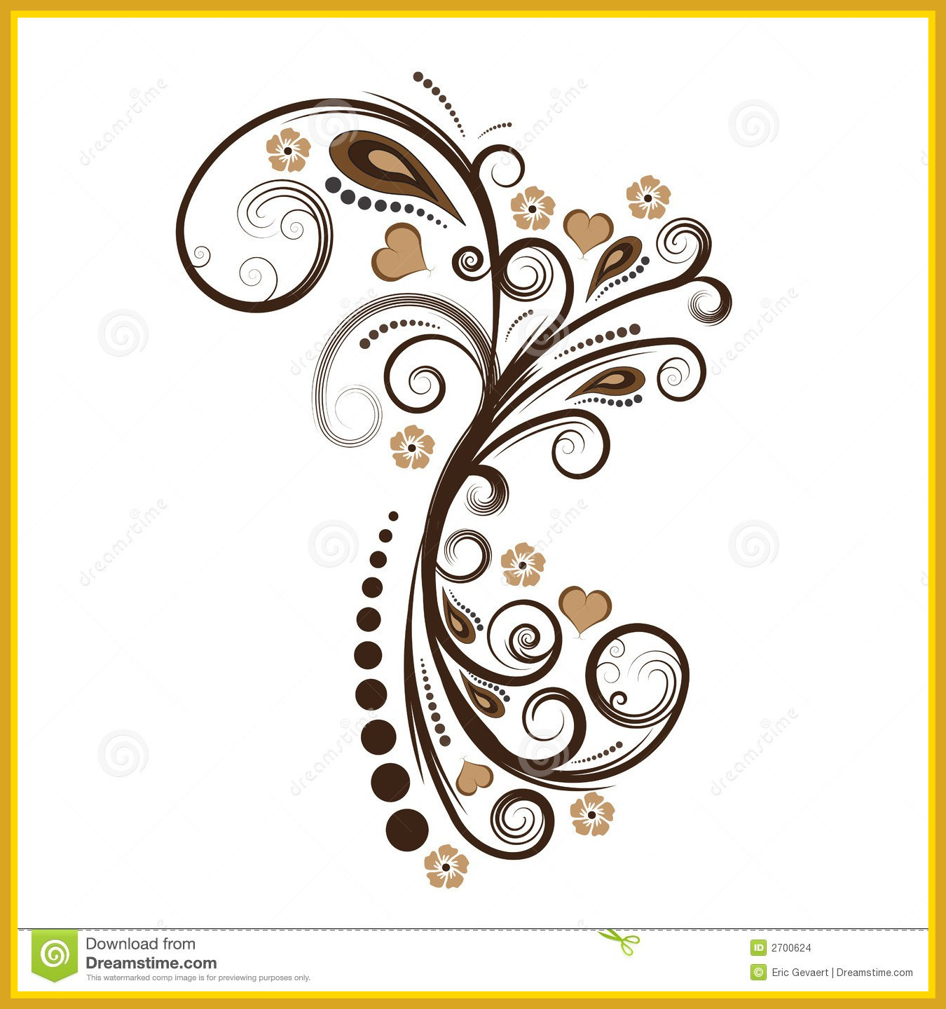 1350x1440 Unbelievable Vector Floral Design Stock Illustration Of Scroll
