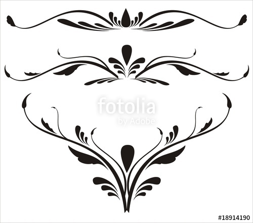 500x440 Decorative Spiral Set Scroll Design Elements Stock Image And