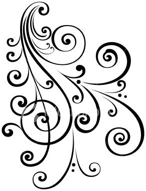 291x380 A Fancy Vectorized Ornate Scroll Design With Ungrouped Scrolls