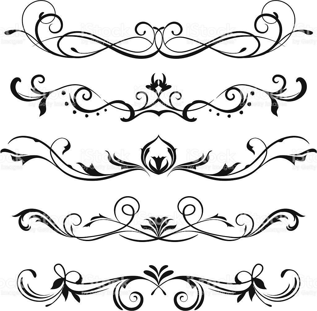 1024x1005 A Various Scroll Designs. Fonts Scroll Design