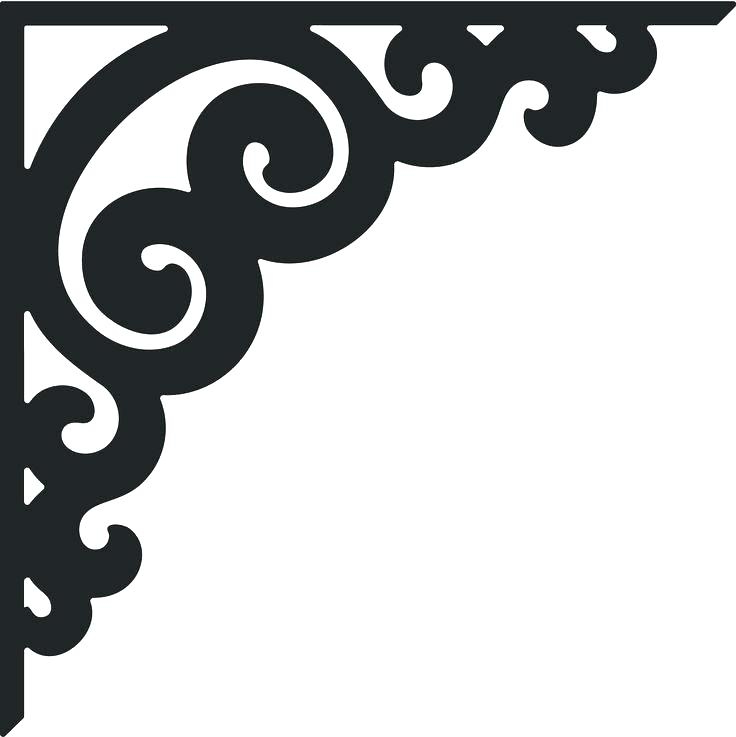 736x737 Corner Scroll Design Corner Scroll Design Corner Scroll Border