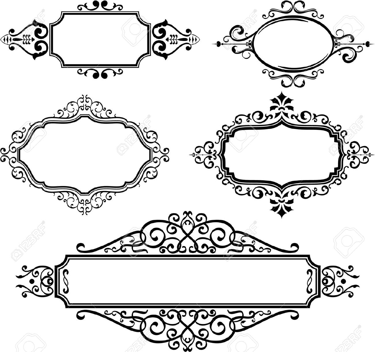 1300x1220 Scrolls Clipart Ornate ~ Frames ~ Illustrations ~ Hd Images