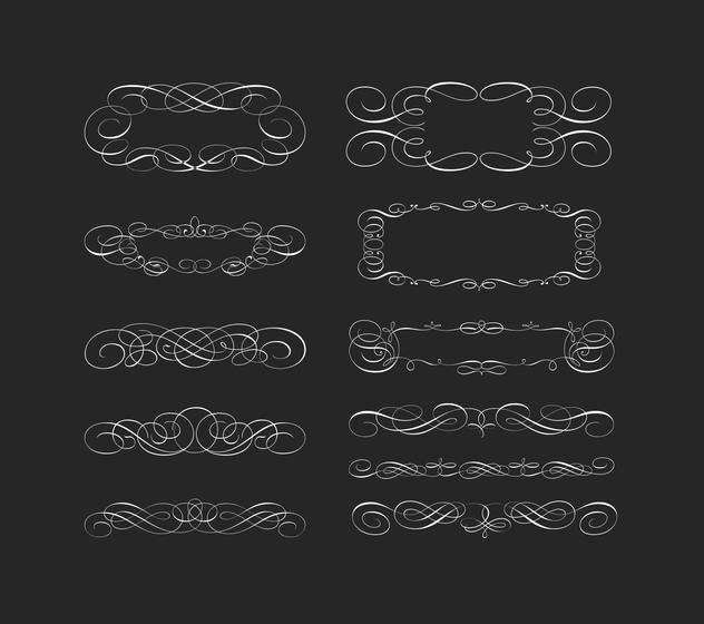 632x560 Swirly Scroll Frame And Border Vectors