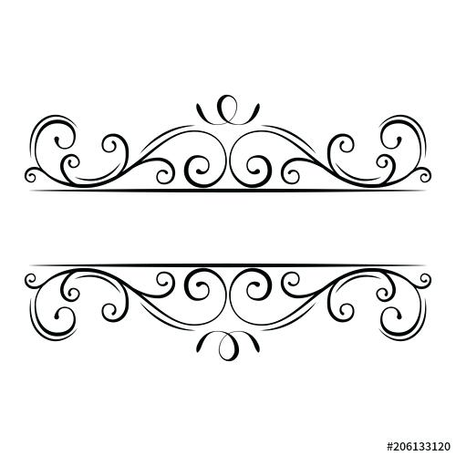 500x500 Flourish Frame Calligraphic Flourish Frame Decorative Ornate