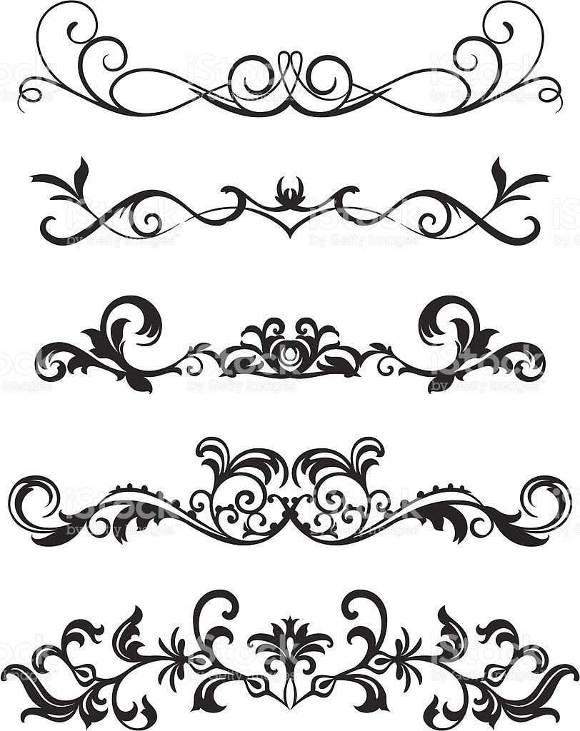 812x1024 A Various Scroll Designs. In 2018 Dibujos Scroll