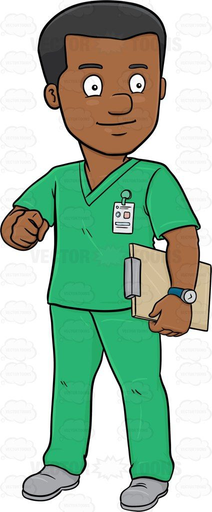 424x1024 A Dark Haired Male Nurse In Scrubs Holding A Clipboard Medical
