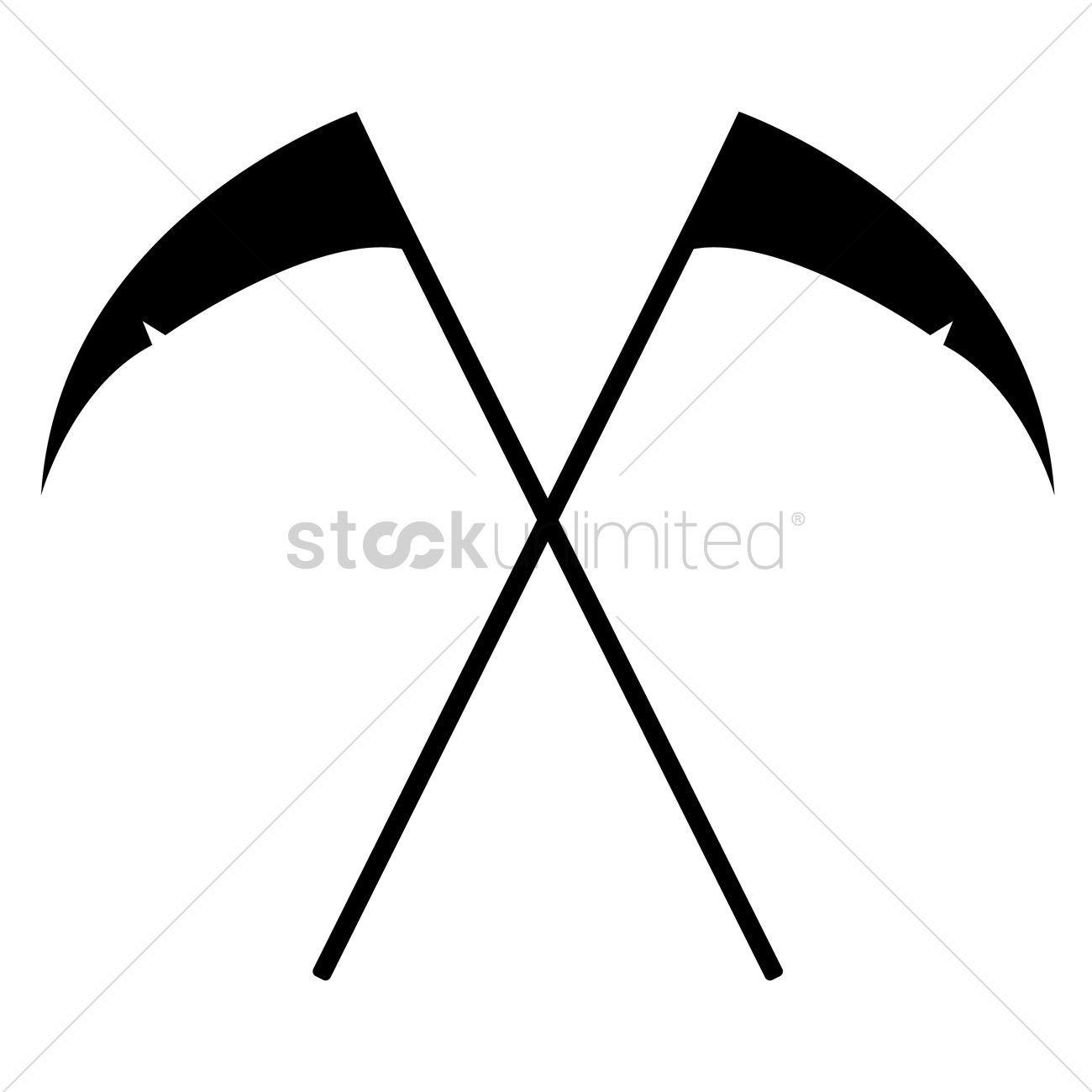 1300x1300 Grim Reaper Scythe Silhouette Vector Image
