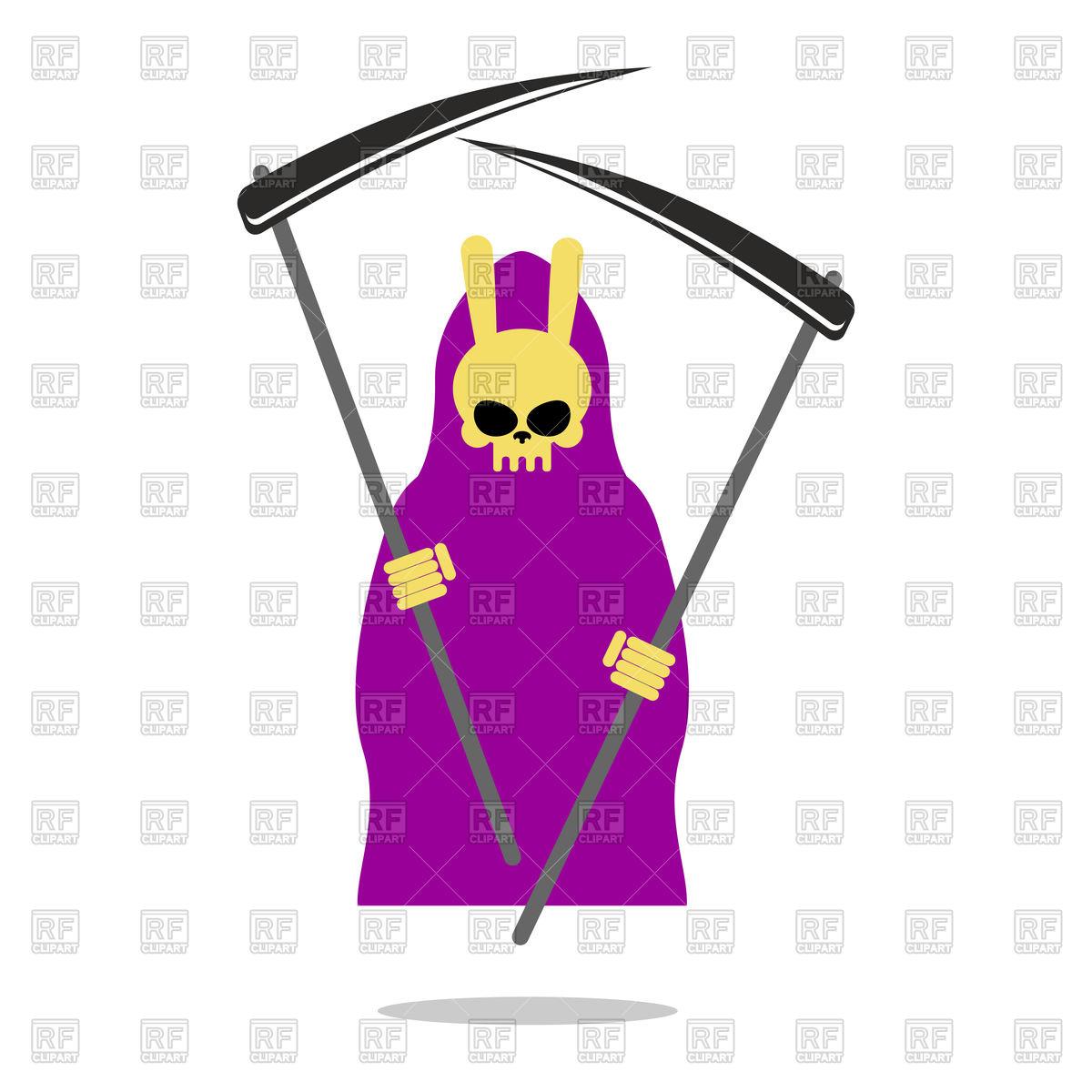 1200x1200 Bunny Death Purple Cloak And Scythe Vector Image Vector Artwork