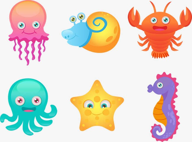 650x483 Vector Sea Creatures, Sea Creatures, Vector, Cartoon Png And