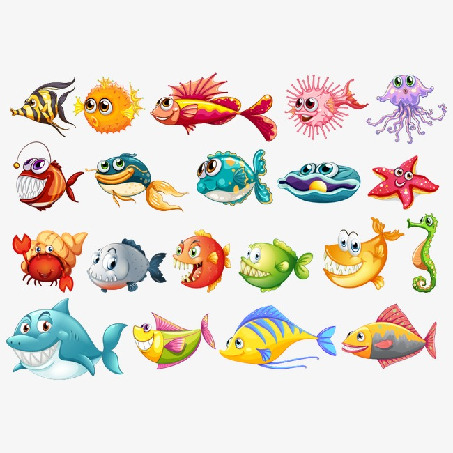 650x650 Vector Sea Creatures, Sea Vector, Vector Fish, The Underwater