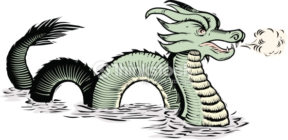 592x289 Sea Monster Clipart Vector Sea 4