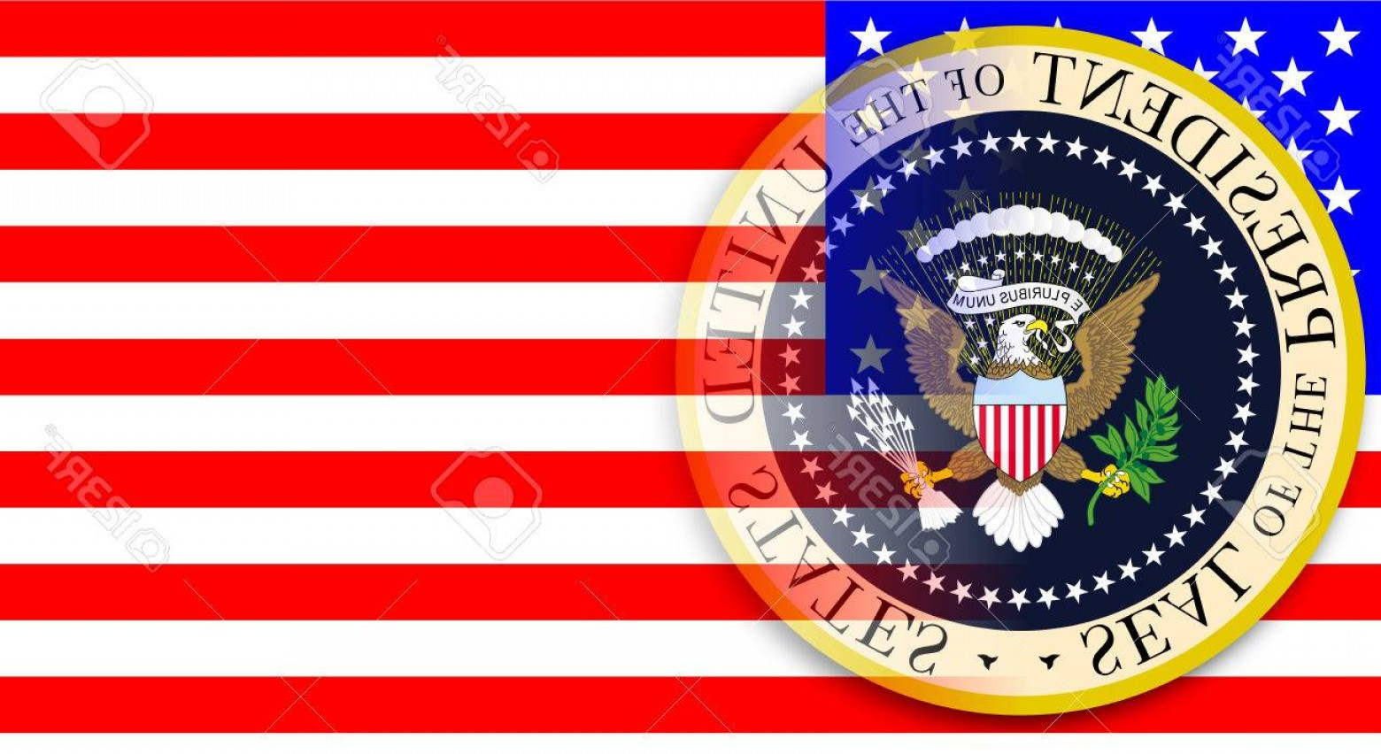 1560x852 Photostock Vector A Depiction Of The Seal Of The President Of The