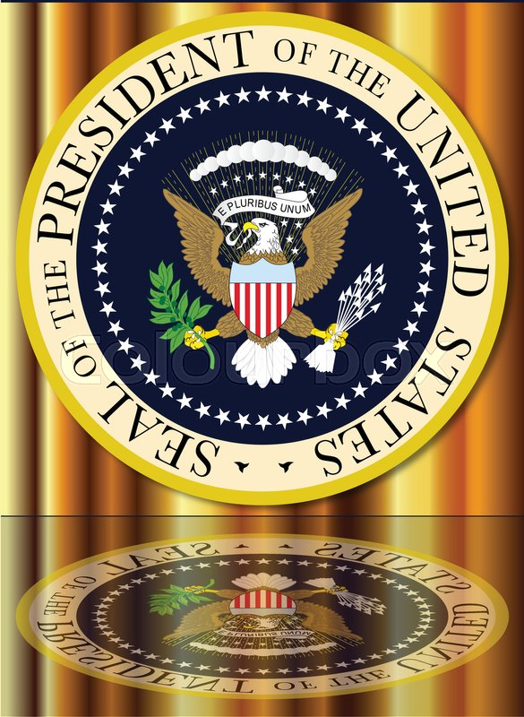 585x800 A Depiction Of The Seal Of The President Of The United States Of