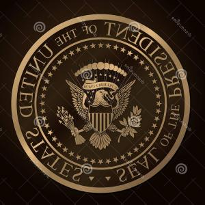 300x300 Stock Photos Us Golden Presidential Seal Emboss Highly Detailed