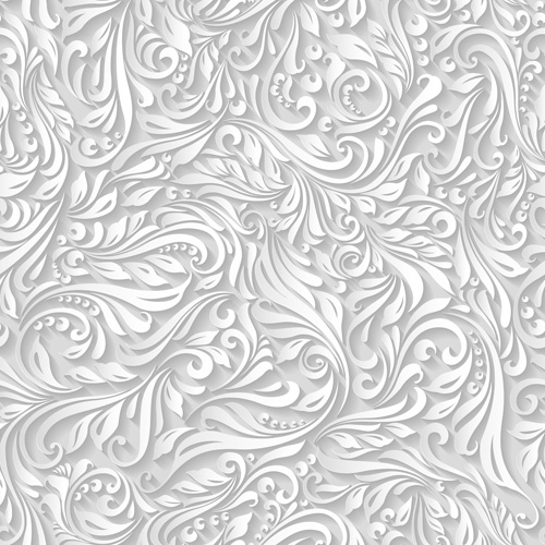 500x500 Paper Floral White Seamless Pattern Vector Free Download