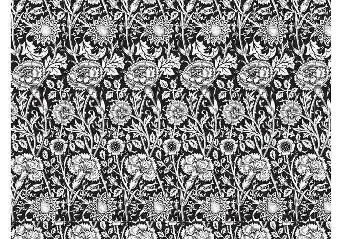700x490 Seamless Floral Pattern Vector