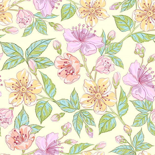 626x626 Seamless Floral Pattern Vector Free Download