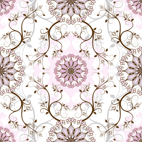 500x500 Elegant Floral Seamless Pattern Vector Graphic Free Download